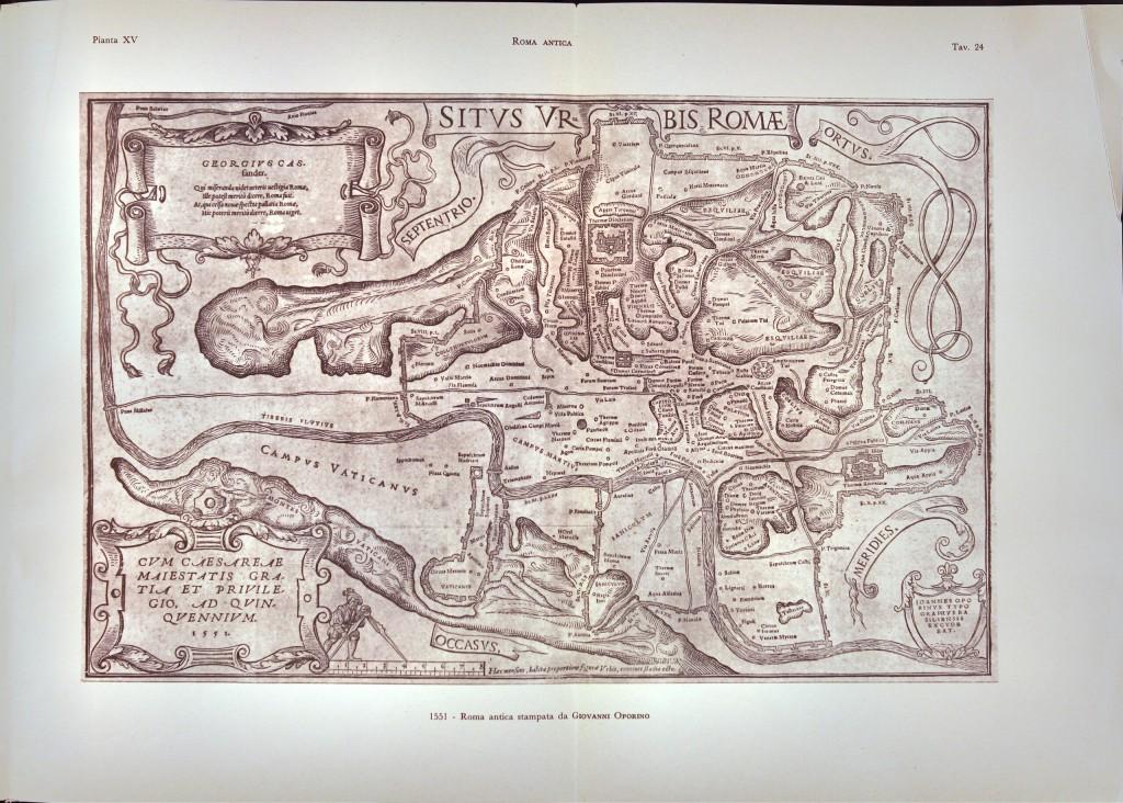 1551 - Roma antica stampata da Giovanni Aporino