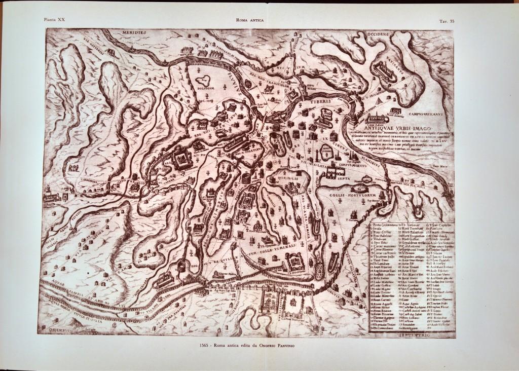 1565 - Roma antica edita da Onofrio Panvinio