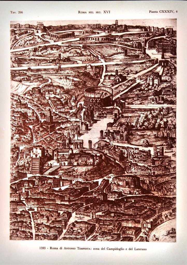1593 - Roma di Antonio Tempesta: zona del Campidoglio e del Laterano