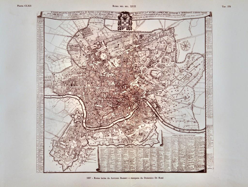 1667 - Roma incisa da Antonio Barbey e stampata da Domenico De Rossi