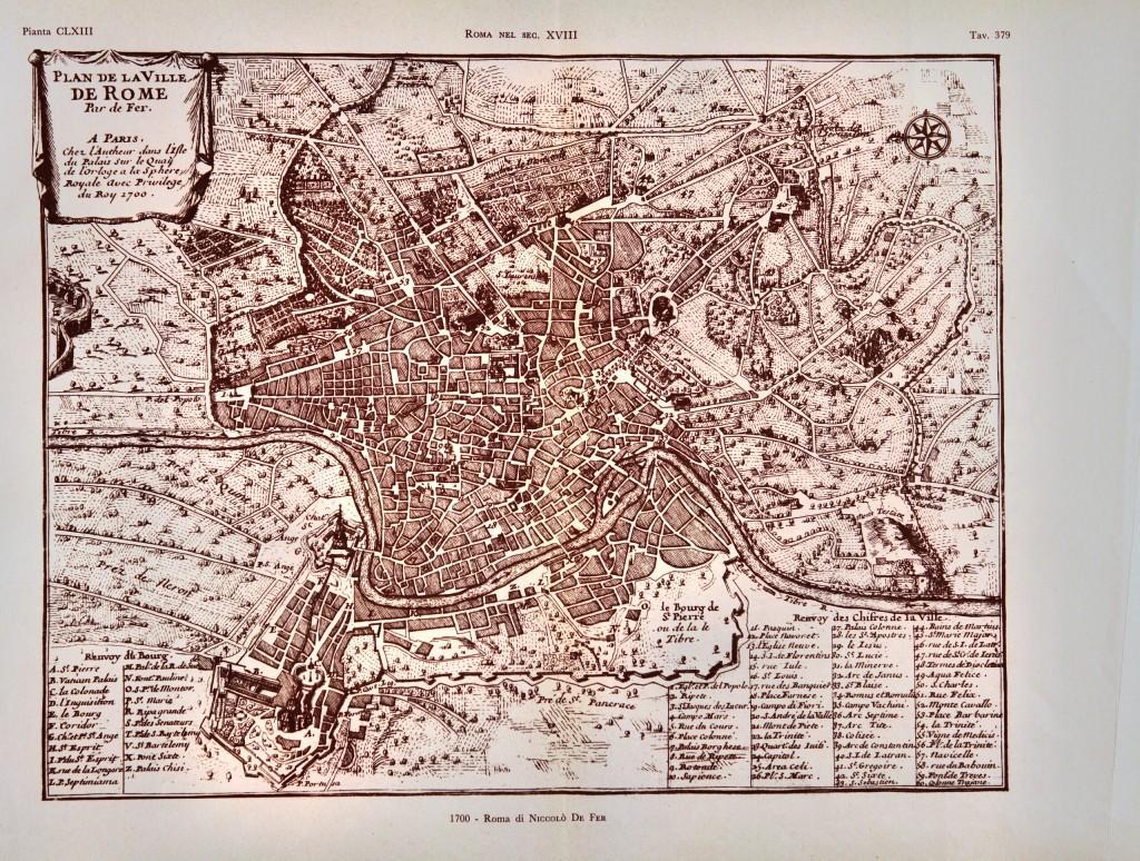 1700 - Roma di Niccolò De Fer