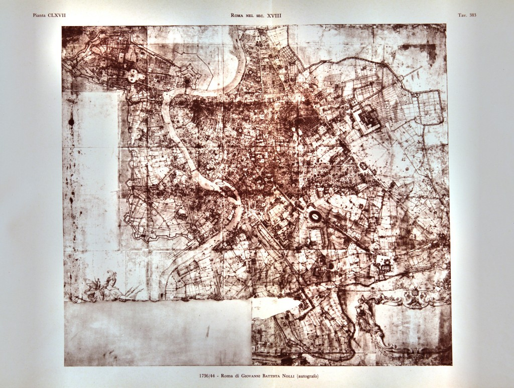 1736/44 - Roma di Giovanni Battista Nolli (autografo)