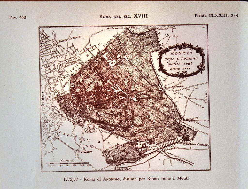 1755/77 - Roma di Anonimo, distinta per Rioni: rione Monti